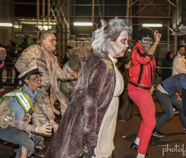 The New York Citys Village Halloween Parade Celebrated Its Th Year On Tuesday There Was A Heightened Police Presence Throughout The Parade In Response