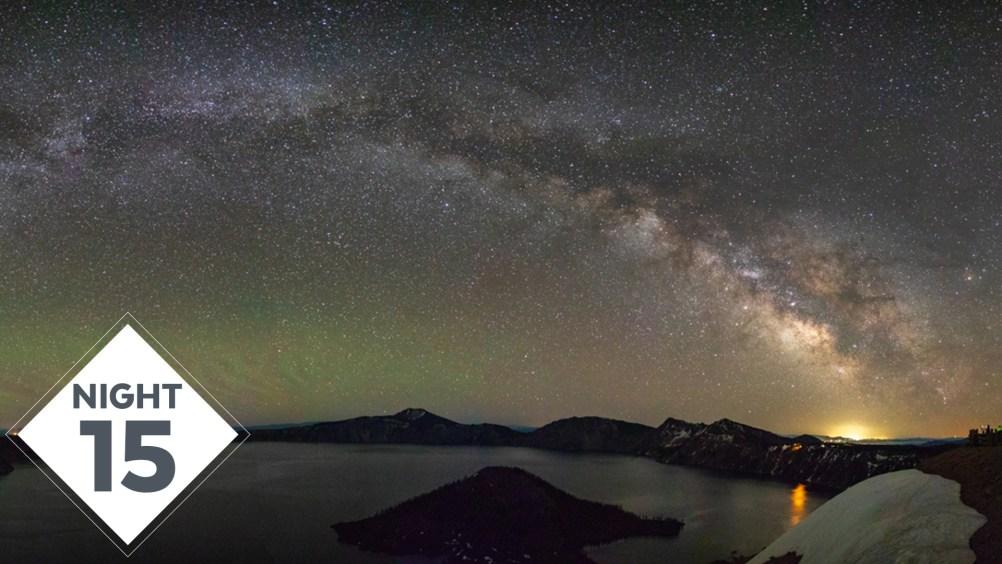 Night 15 #TheGreatMilkyWayChase VLOG: Crater Lake Panorama Milky Way Photography
