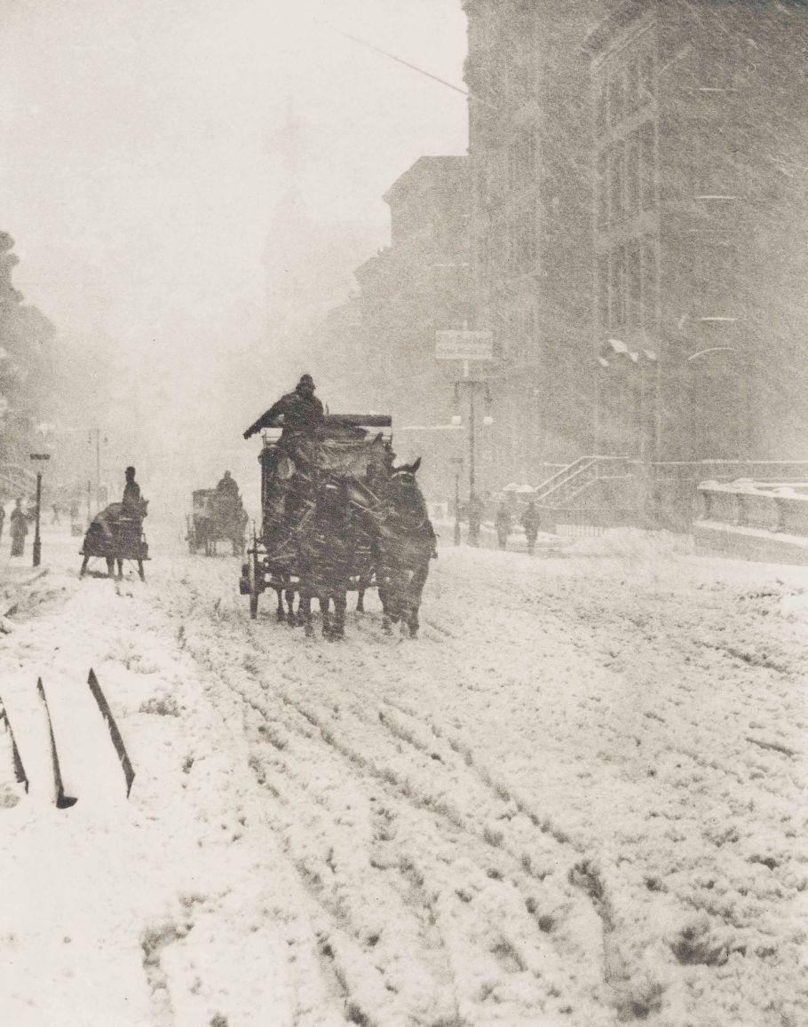 Alfred Stieglitz - Winter, Fifth Avenue - 1893 - Photogravure