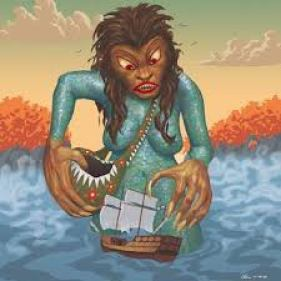Gougou - Also known as Kuku, these semi-aquatic North American giants are  described as feminine human…   Mythological creatures, Mythical creatures,  Monster legends