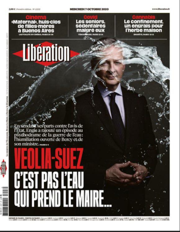 Couverture de Libération du 7 octobre 2020