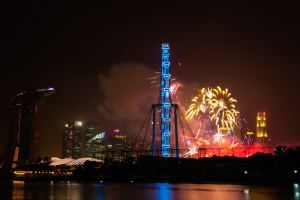 Feux d'artifices - New year 2015 - Singapore