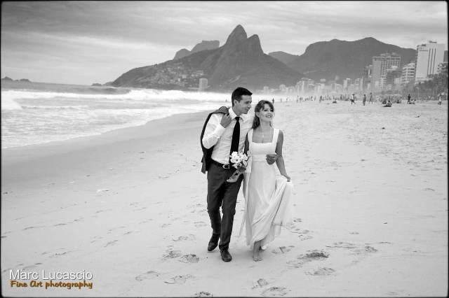 Portrait des mariés à Rio de Janeiro