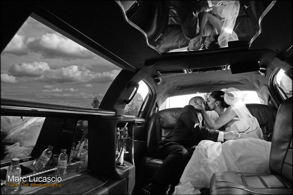 Photographie dans une Limousine.