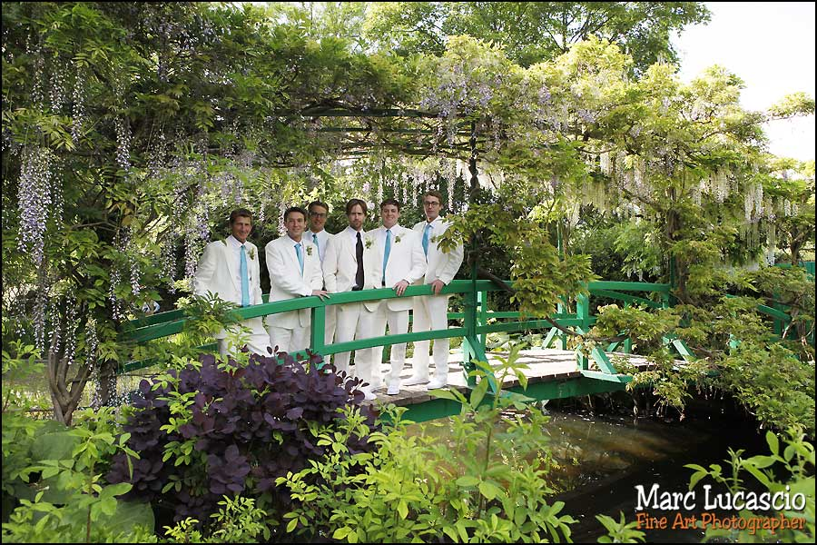 mariage giverny photo de groupe