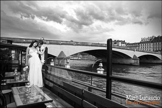 Photo de couple mariage à Paris