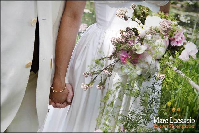 Photo de la cérémonie les alliances du mariage à Giverny