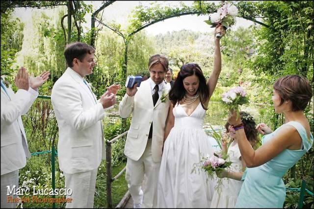 Photo de la cérémonie mariage à Giverny