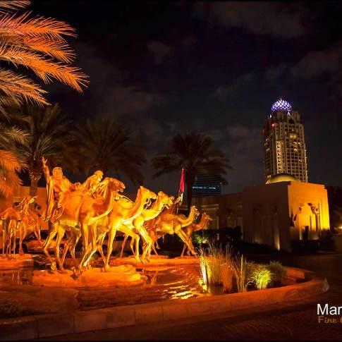 lextérieur du lieu de reception mariage à Dubaï