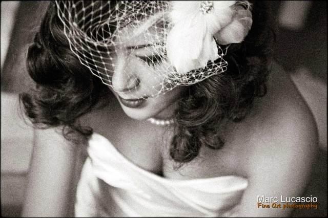 Photo de mariage de style rétro vintage