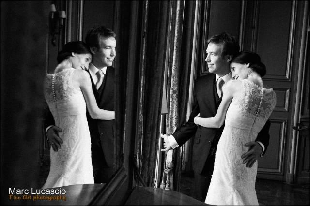 portrait mariage noir et blanc