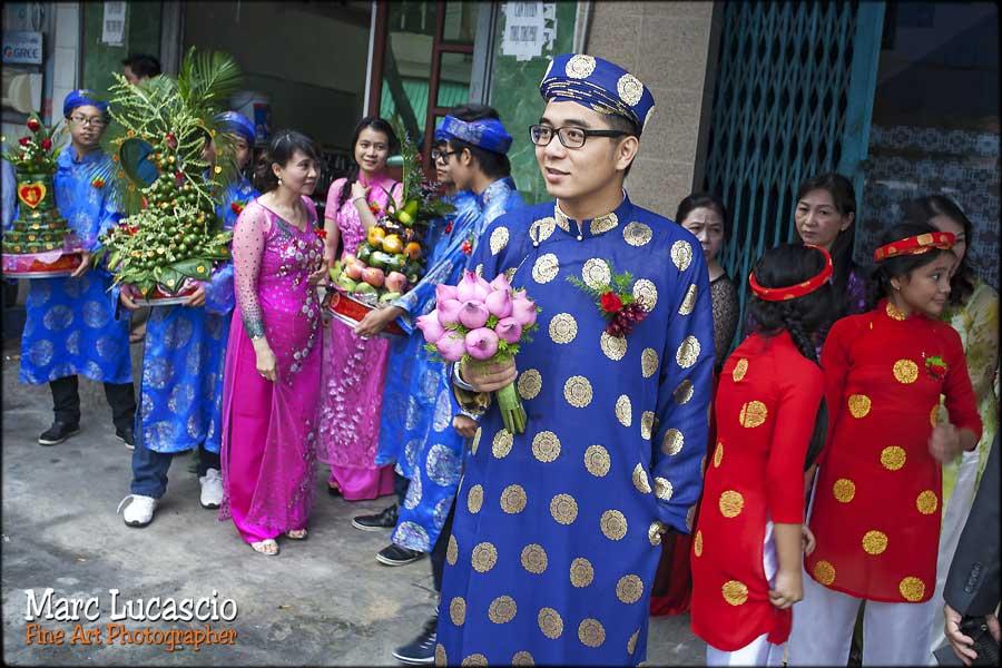 marié habit traditionnel mariage Vietnam
