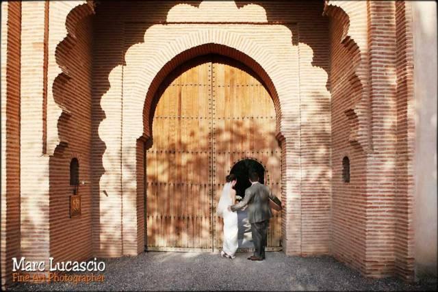 photo mariage marrakech ksar char bagh