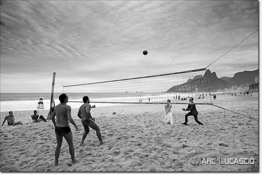 Mariage volley ball à Copacabana rio de Janeiro