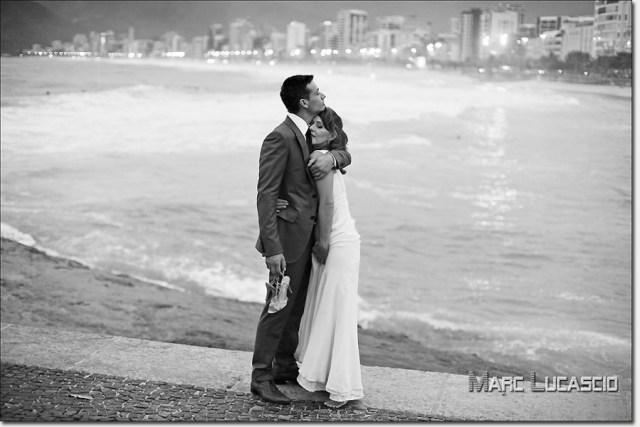Mariage noir et blanc Copacabana,Rio de Janeiro