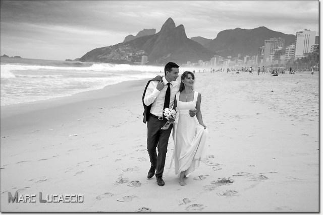La plage de Copacabana photo mariage au Brésil