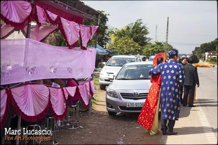 photographie mariage Vietnam dans la rue