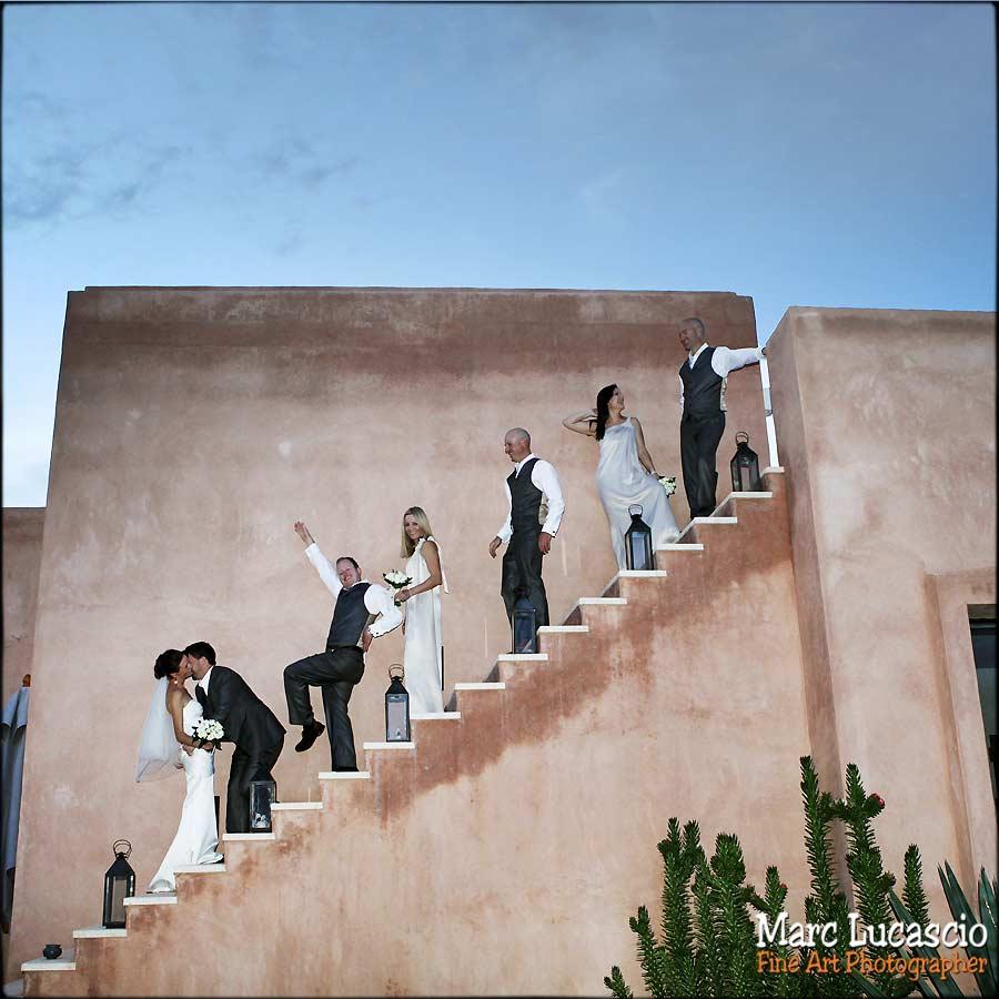 Groupe de témoins à Marrakech escaliers
