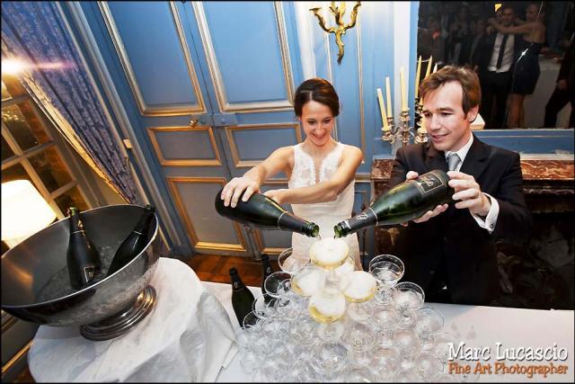 champagne photo mariage