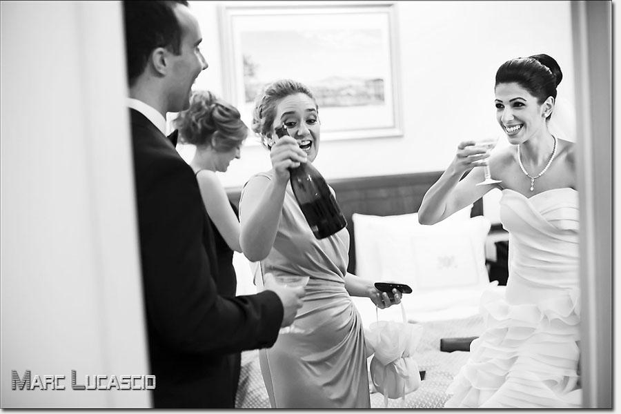 Champagne à Istanbul pour ce mariage