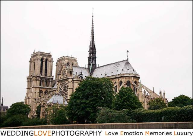 Photos de mariage Notre-Dame de Paris