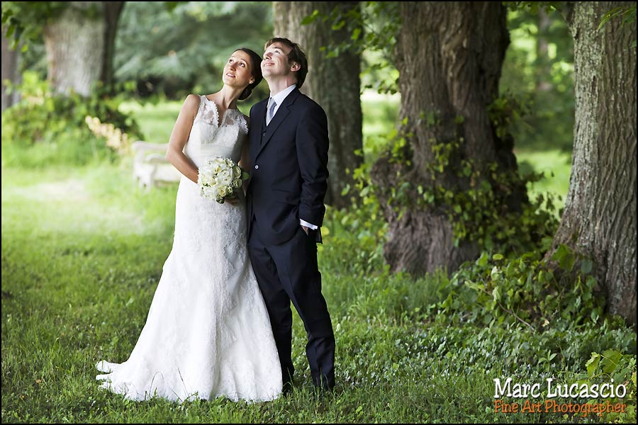 couple dans le parc du Château