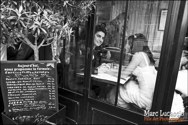 photo mariage paris petit restaurant