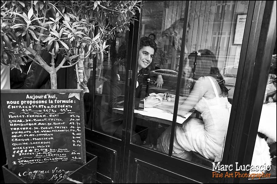 photo mariage paris petit restaurant