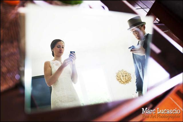 Préparation mariage miroir Versailles