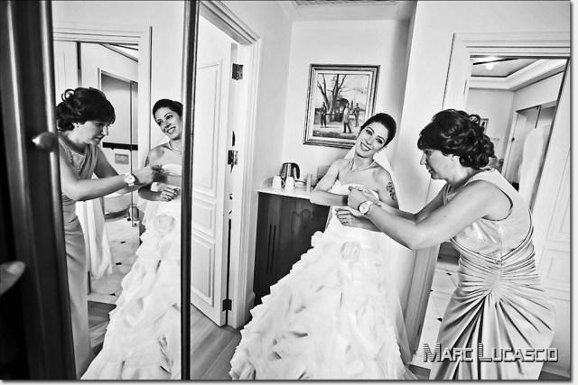 Photos mariage Istanbul préparation au Pera Palace