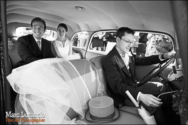 voiture photos mariage château de Neuville