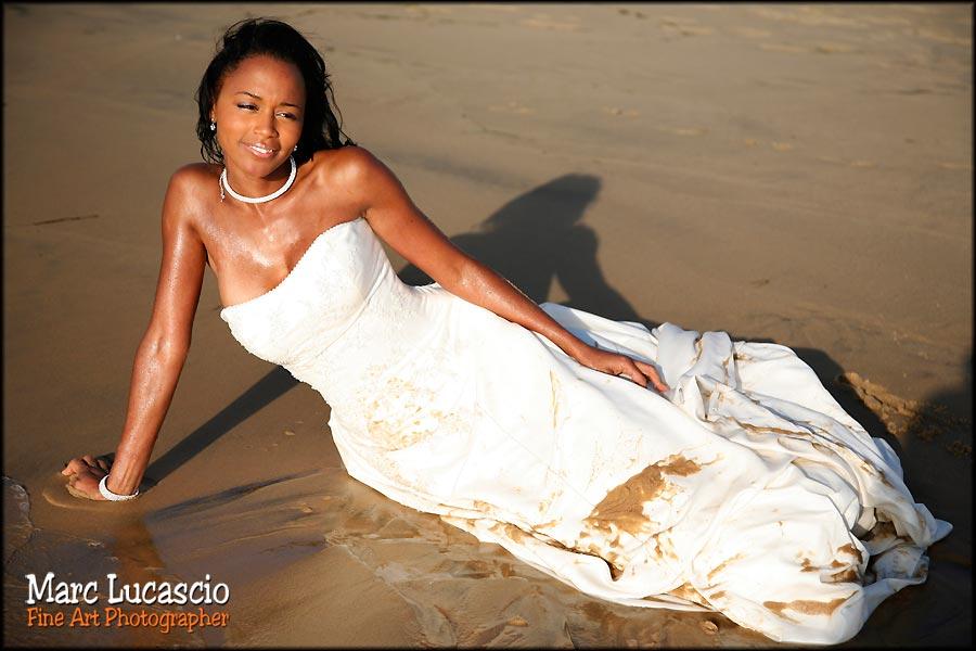 portrait mariée trash the dress