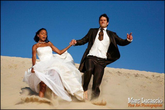 Mariage le jour d'après dune du Pyla