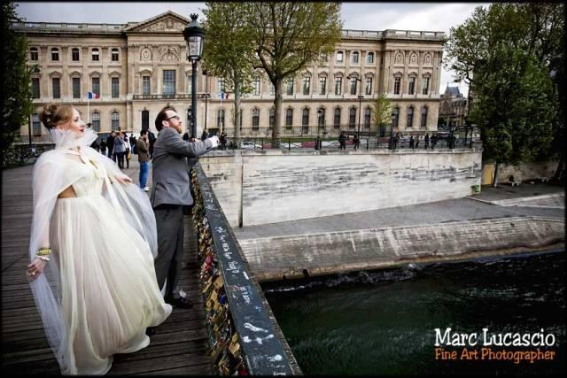 mariage paris le pont des arts