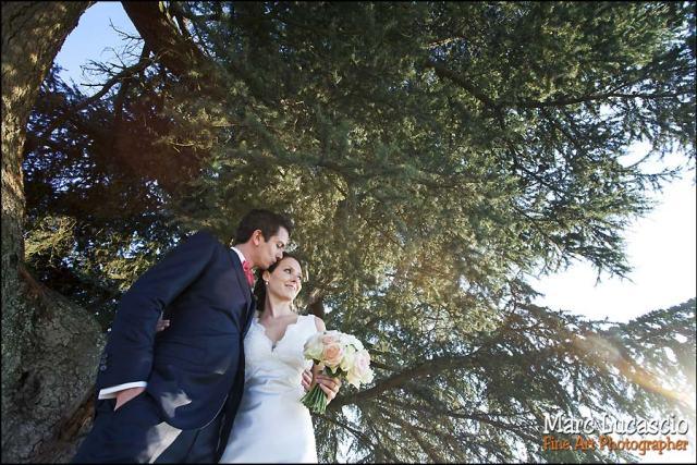 mariage saint emilion portrait contre jour