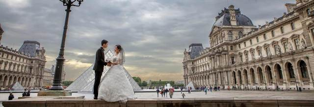Photo de couple à Paris mariage chinois