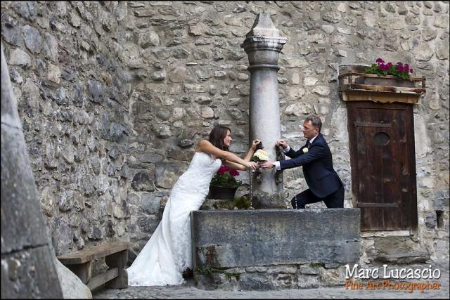 mariage fontaine château Chillon