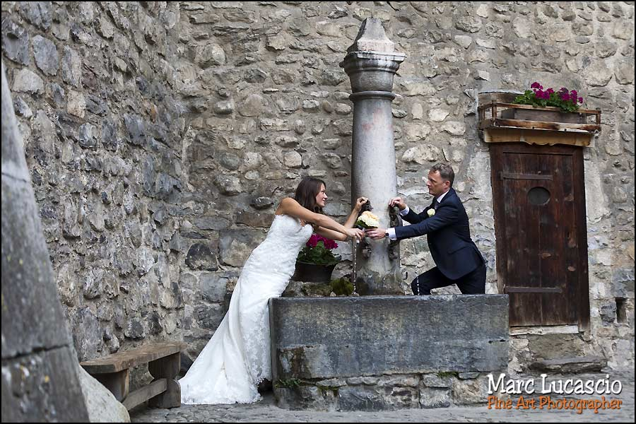 mariage fontaine château Chillon