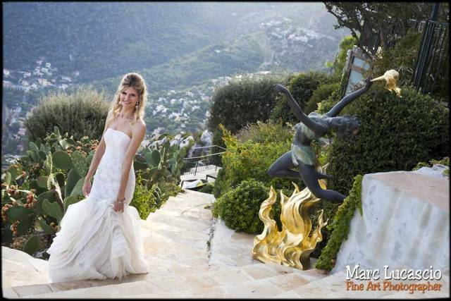 photo mariage la chèvre d'or french riviera
