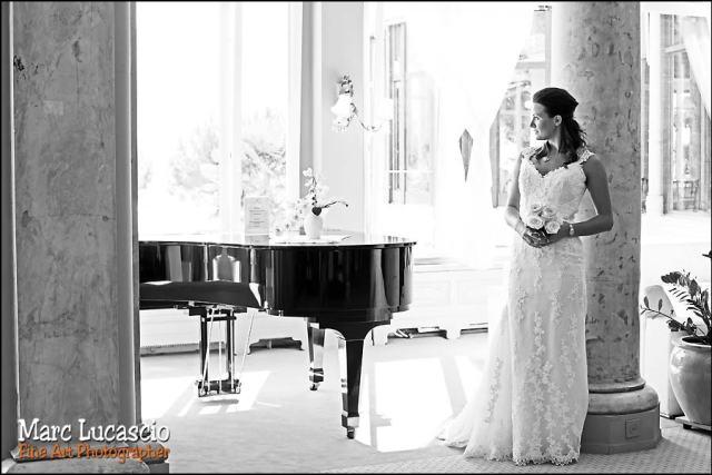 Montreux mariée noir et blanc
