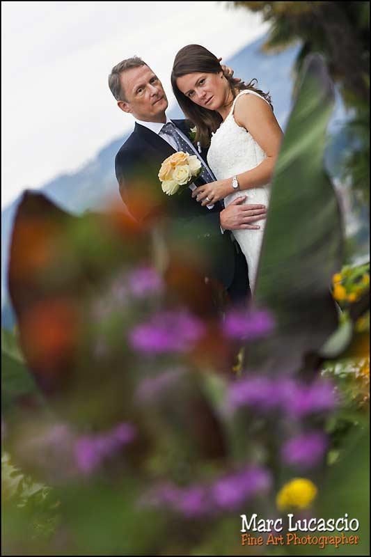 mariage Montreux portrait maries