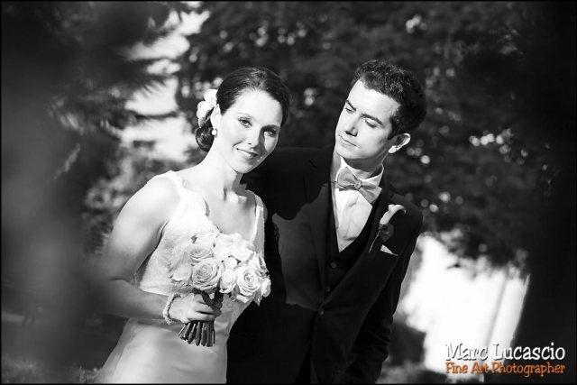 photo mariage noir et blanc saint emilion