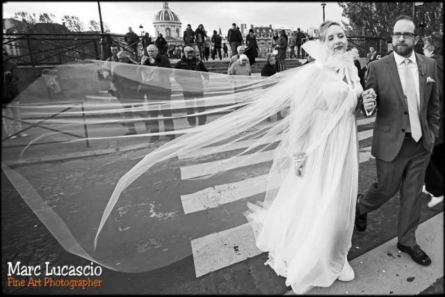 photo mariage paris le pont des arts
