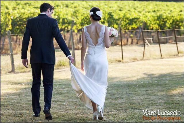 photo mariage saint emilion dans les vignes