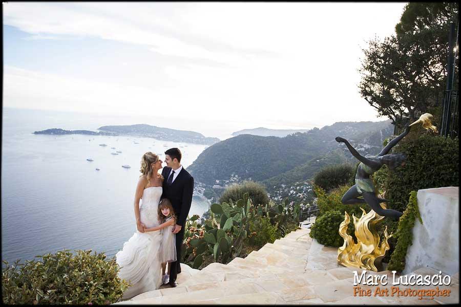 photo mariage st jean cap ferrat cote d'azur