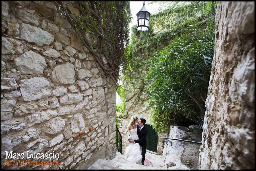 photo mariage village eze médiéval