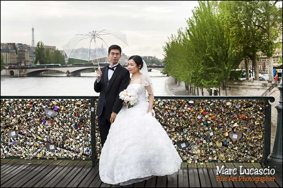 photo couple Pont des Arts