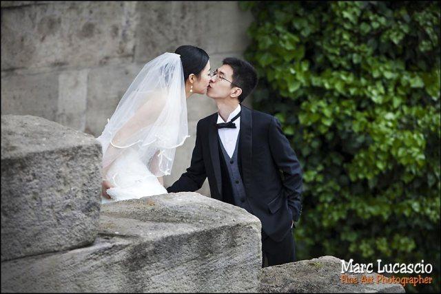 couple mariage bord de Seine à Paris