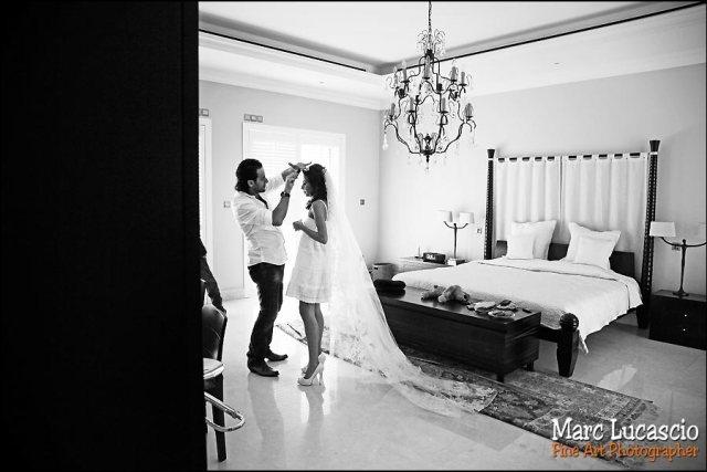 photos mariage à Burj Khalifa coiffure voile