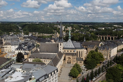 Luxembourg aerial view